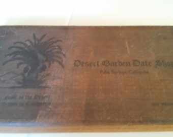 FREE U.S. SHIPPING--Old Date Box with Lid, California
