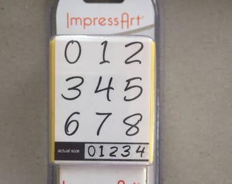 ImpressArt Bridgette Metal Number Stamps 4mm
