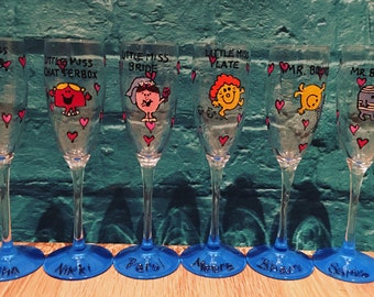 Little Miss Champagne Glasses
