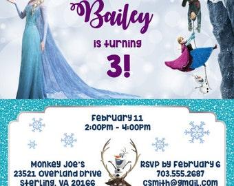 Frozen Birthday Invitation Digital File ONLY
