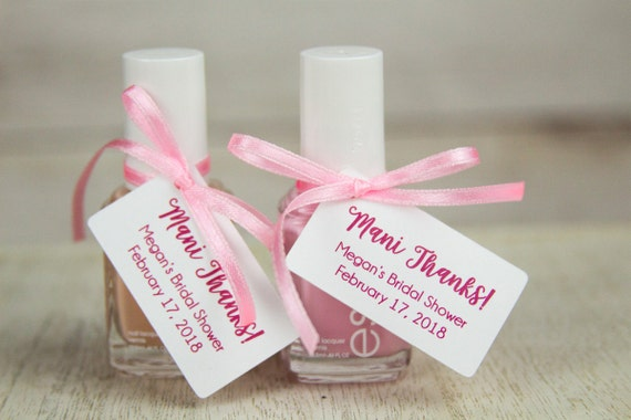 mani thanks tags bridal shower thank you gifts baby shower, Baby shower