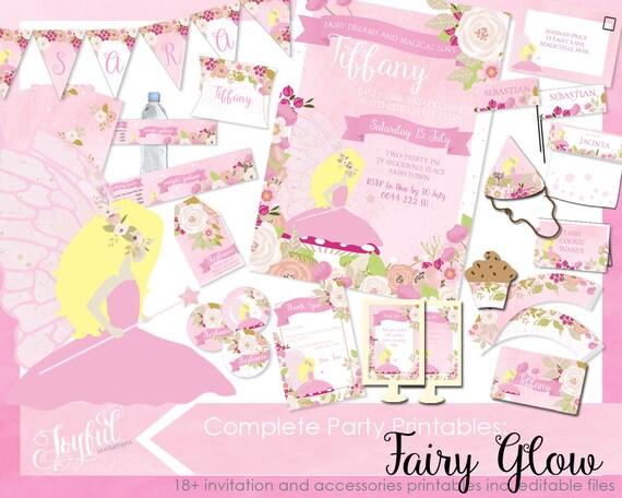 Fairy birthday party invitations and printables fairy invitation il570xn filmwisefo