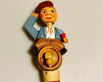 ANRI bottle stopper is a perfect piece of antique folk art