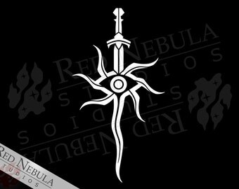 Inquisition Sword Vinyl Decal, DAI Sword Symbol, Dragon Age Car Decal, Sword and Eye, Inquisition Eye Decal, Vinyl Sticker, Laptop Decal