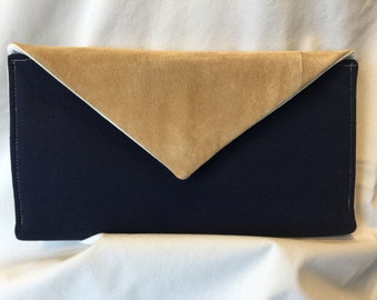 Up-cycled Leather Envelope Clutch