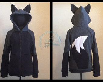 Silver Fox Fleece Hoodie - Adult Sizes S-3XL