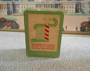 1920's ( Clix ) Box of Shaving Razor Blades