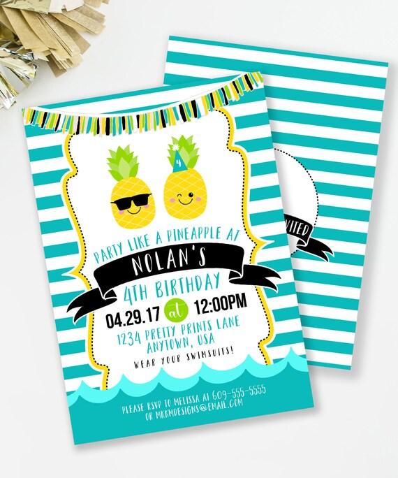boys birthday invite