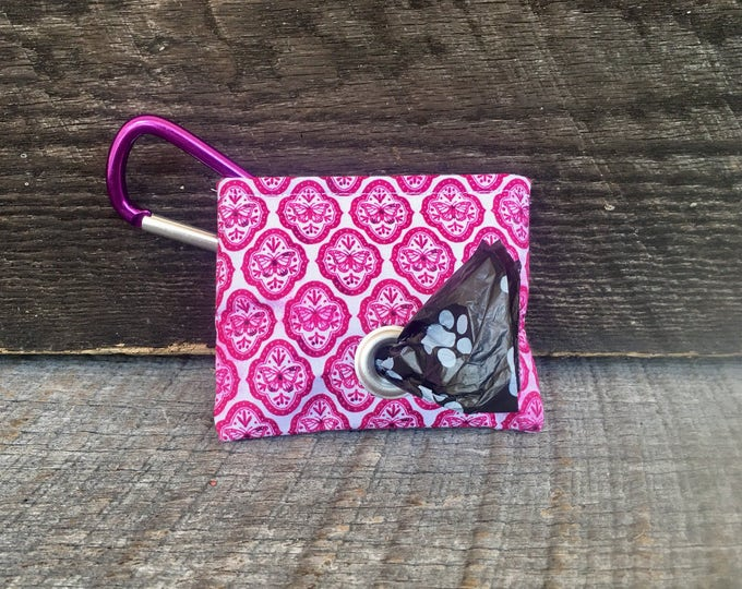 Butterfly Tile Poop Bag Pouch