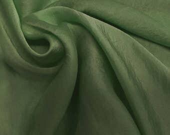 Mint Dark Silky Satin Chiffon Fabric by the Yard - Style 455