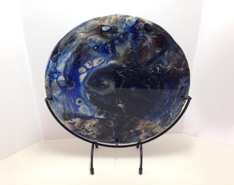 "10"" round Fused Glass Panel"