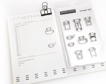 Bears - Clear Stamp Kit for your Journal, Planner or Paper Crafting Needs
