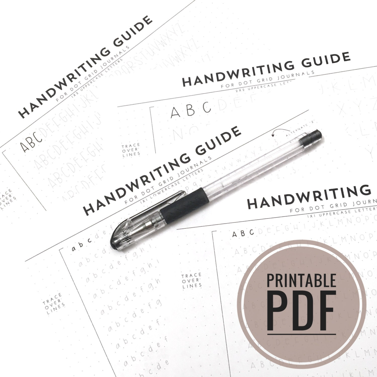 handwriting guide for journals and planners dot grids pdf
