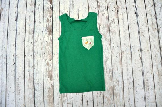 Green Kitty Pocket Tank 2/3