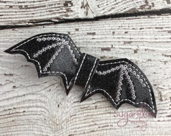 Glitter Bat Bow Hair Clip, Hair Accessory