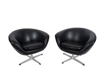 Overman AB Pod Chairs Sweden Danish Modern MCM