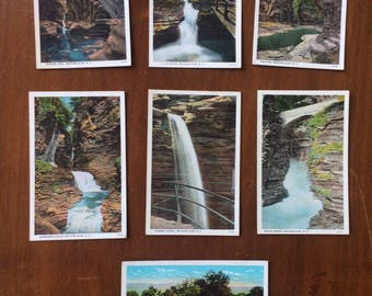 Set of 7 Vintage Unused Watkins Glen, NY Poatcards, 4x6
