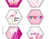 Illustrated Faith - Basics - That's My Jam You Hexies - Epoxy Stickers - 8 pieces - 1534