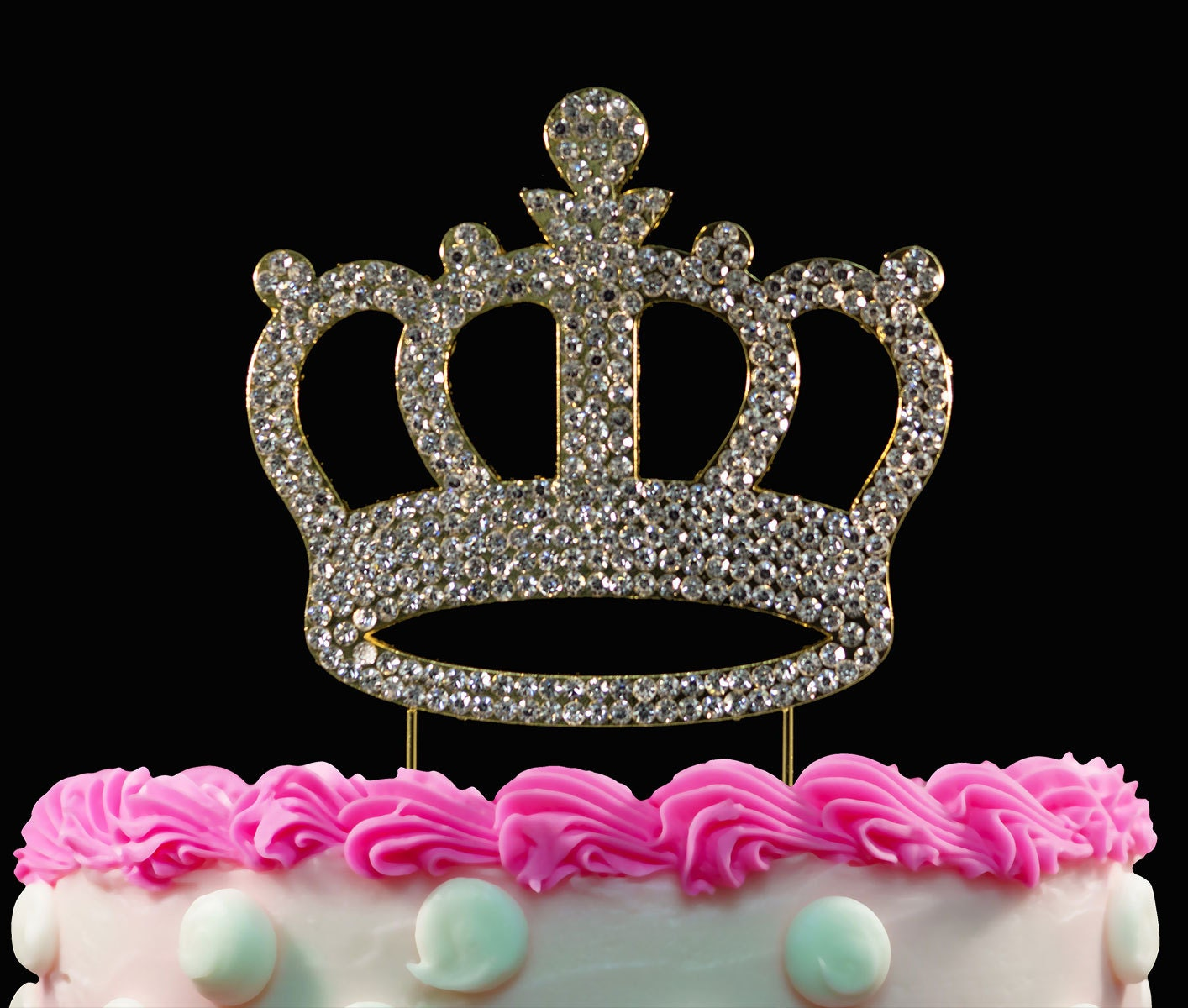 crown cake topper gold crown birthday cake toppers bling princess cake topper 3196