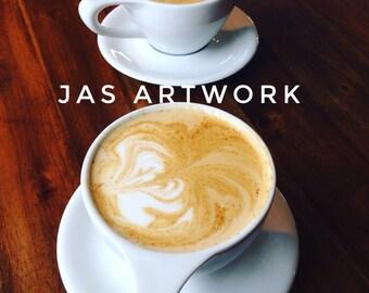 Original Coffee house latte art artwork photography photo kitchen drink beverage restaurant