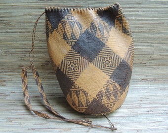 Large Vintage Dayak Borneo Pack Basket or Ajat Hand Woven From Rattan