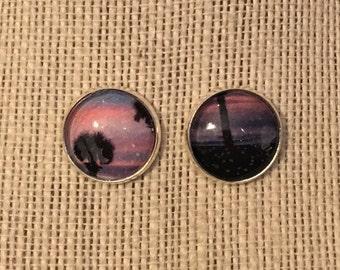 16mm Beach Sunset Stud Earrings