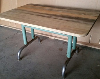 Mid Century Inustrial Modern Childs Desk Coffee Table End Table Bedside Table