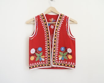 Vintage Embroidered Vest