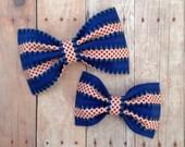 fourth of july hair bow stars and stripes nylon headband preppy rockabilly