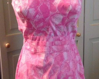 """Retro 60s """"Perfection by Roxanne"""" Pink Bombshell Swimsuit"""