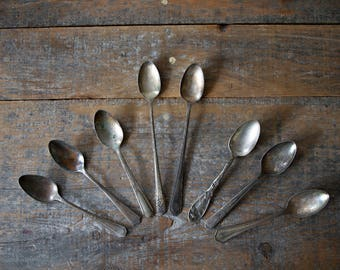 Assorted Antique Silver-Plated Spoons