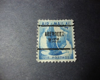 SALE - 1954 Aberdeen Washington Precancel Stamp - Air Mail Postage Stamp - Eagle - Scott # C48 - .65 Cent Ship, 1.25 Int'l Ship