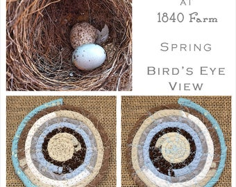 Bird's Eye View- The Seasons at 1840 Farm Collection - Made to Order Handmade Fabric Baskets and Trivets