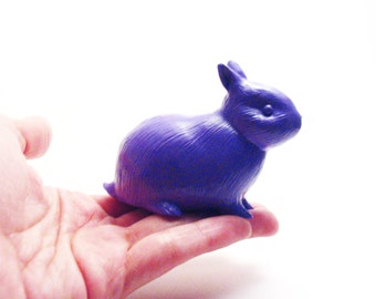 Dwarf bunny figure Alberto purple