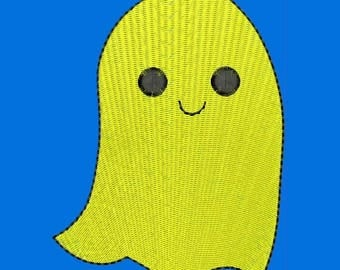 Cute Ghost, halloween Machine Embroidery Designs - Instant Download Filled Stitches Embroidery Design 269