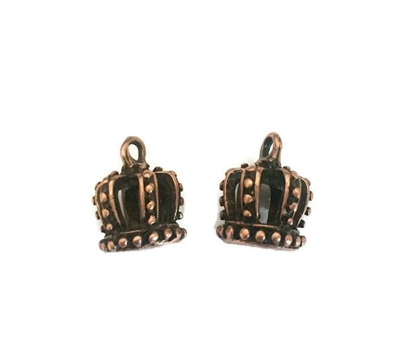 CROWN 3D copper plated jewelry charms