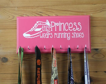 Running Medal Holder - This Princess Wears Running Shoes