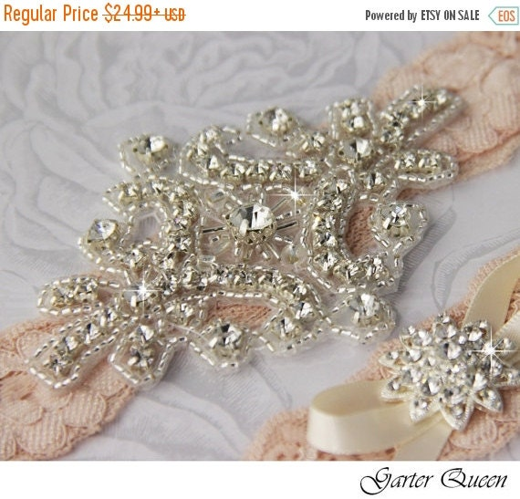SALE 15% OFF Bridal Garter Wedding Garter Set By GarterQueen