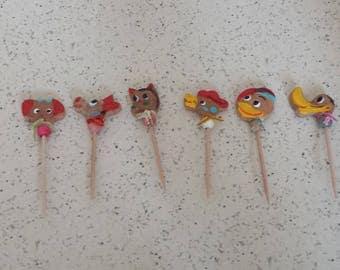 Adorable Vintage Japan Animal Toothpicks