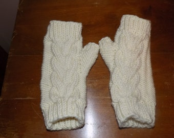 Knit Cabled Handwarmers