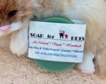 Pet soap-Soap for Pet-Soap for Dog-Vegan soap-Natural soap-Dog soap-repols fleas-insect soap-Cat soap-pet shampoo-dog shampoo
