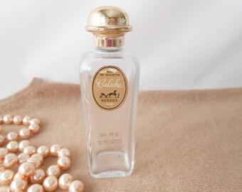 Perfume Bottle, Hermes Caleche, Scent Bottle, French Bottle, Glass Bottle, Caleche, Vanity Accessory, Boudoir, Glamorous, Vintage Bottle