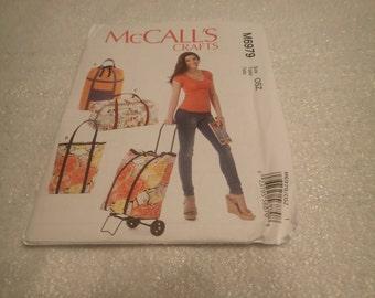 McCall's  Crafts  Pattern # M6979, Crafty,Luggage Bag,  Roses on Luggage Bag, and Orange Luggage bag, PATTERN ONLY- DESTASH