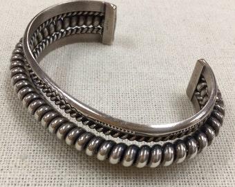 Vintage Tahe Navajo Sterling Silver Spiral Cuff Bracelet!!!!