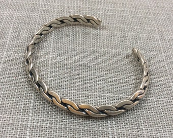 Vintage 925 Sterling Silver Twisted Cuff  Bracelet!!!