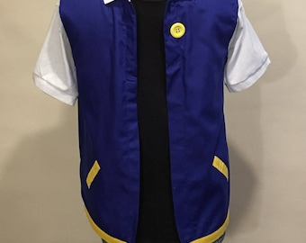 Adult  MEDIUM - POKEMON Trainer - ASH Ketchum  Costume   Cosplay
