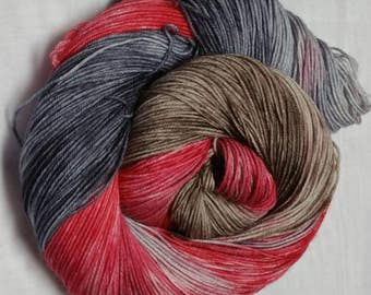 Red Tree Trail Hand Dyed Superwash Merino/Nylon Sock Yarn