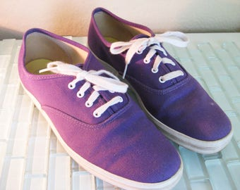 Purple Keds Sneakers Canvas 8.5M Tennis Shoes