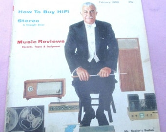 February 1958 Hi-Fi & MUSIC REVIEW MAGAZINE Volume 1 Issue 1 Stereo Rare 1-1 Issue