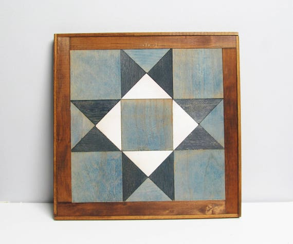 Vintage Wall Hanging Wooden Barn Quilt Rustic Barn Quilt